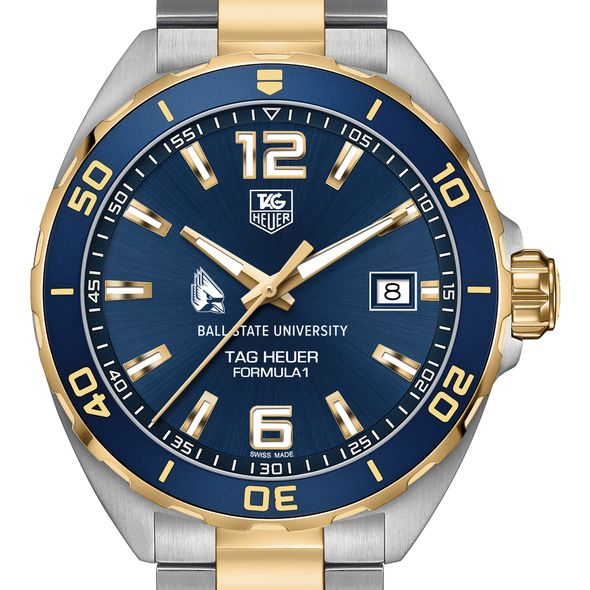Ball State Men's TAG Heuer Two-Tone Formula 1 with Blue Dial & Bezel - Image 1