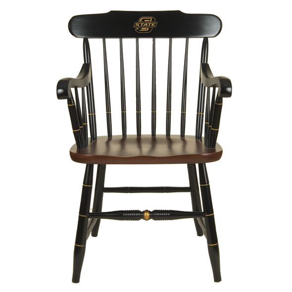 Oklahoma State University Captain's Chair by Hitchcock - Image 1