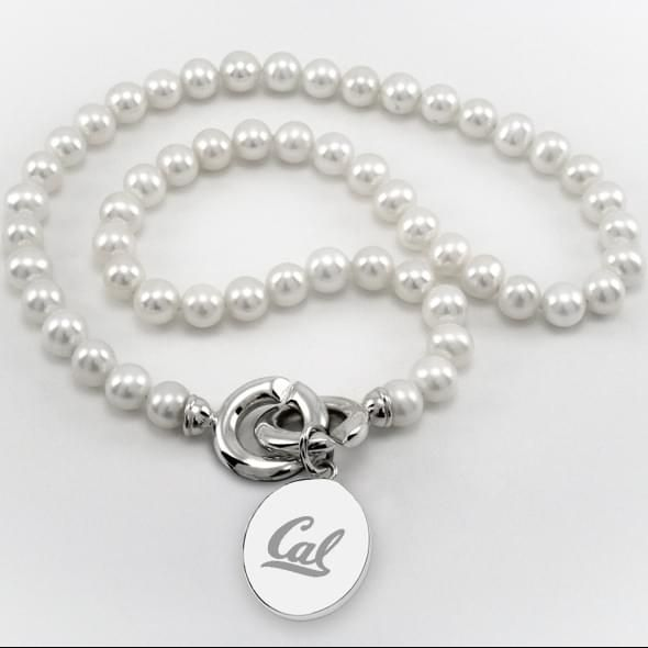 Berkeley Pearl Necklace with Sterling Silver Charm - Image 1