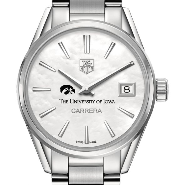 University of Iowa Women's TAG Heuer Steel Carrera with MOP Dial