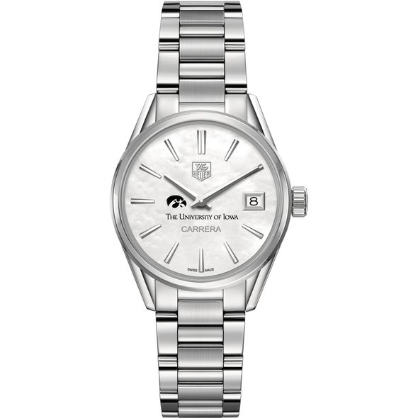 University of Iowa Women's TAG Heuer Steel Carrera with MOP Dial - Image 2