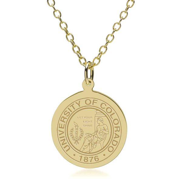 Colorado 14K Gold Pendant & Chain - Image 1