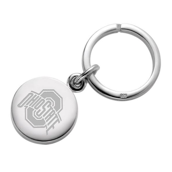 Ohio State Sterling Silver Insignia Key Ring - Image 1