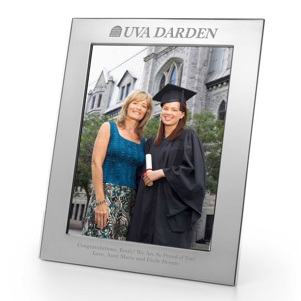 UVA Darden Polished Pewter 8x10 Picture Frame