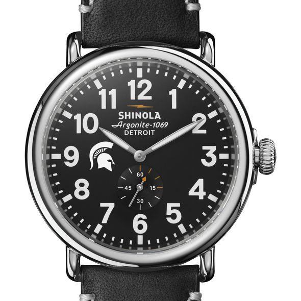 Michigan State Shinola Watch, The Runwell 47mm Black Dial