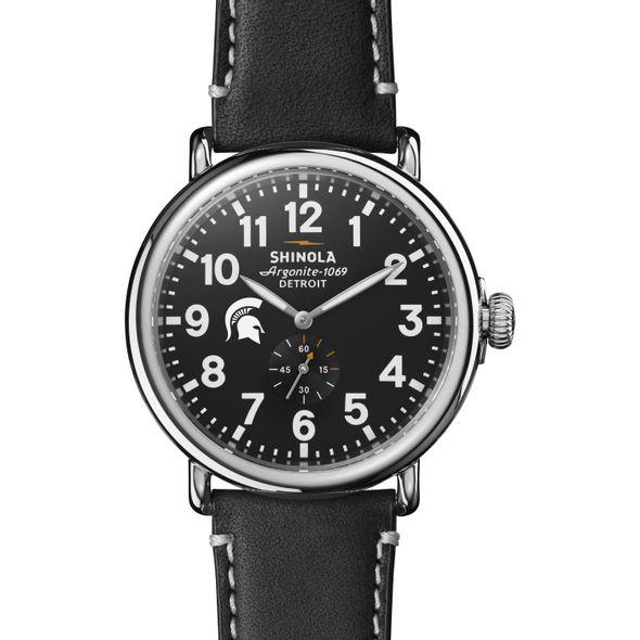 Michigan State Shinola Watch, The Runwell 47mm Black Dial - Image 2