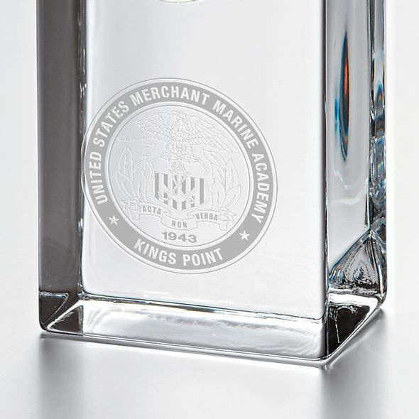 USMMA Tall Glass Desk Clock by Simon Pearce - Image 2