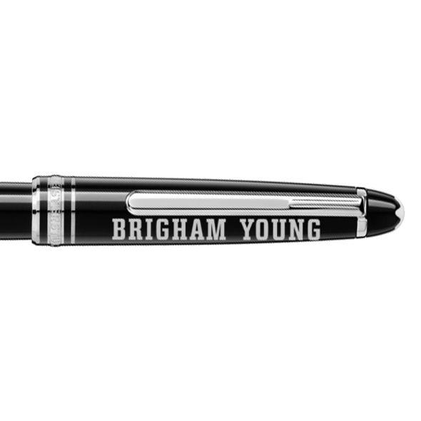 Brigham Young University Montblanc Meisterstück Classique Rollerball Pen in Platinum - Image 2