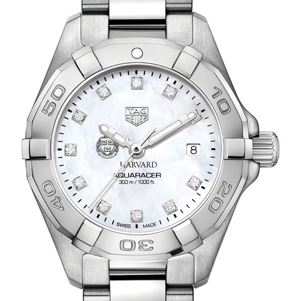 Harvard Women's TAG Heuer Steel Aquaracer with MOP Diamond Dial