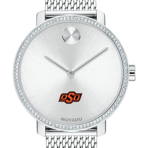 Oklahoma State Women's Movado Bold with Crystal Bezel & Mesh Bracelet