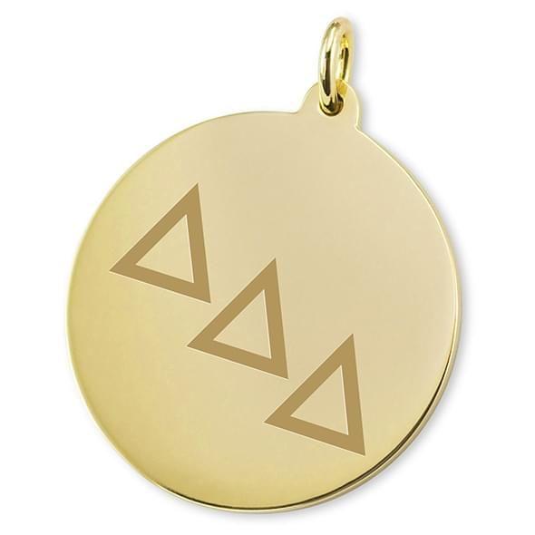 Delta Delta Delta 18K Gold Charm - Image 2