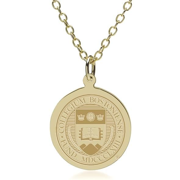 Boston College 18K Gold Pendant & Chain