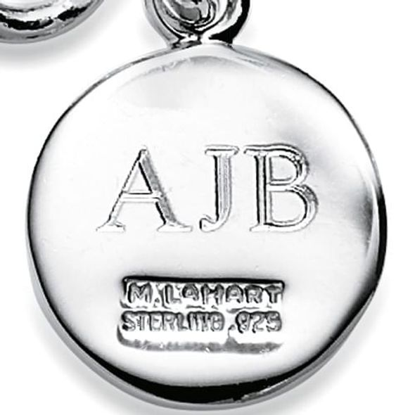 Brigham Young University Pearl Necklace with Sterling Silver Charm - Image 3