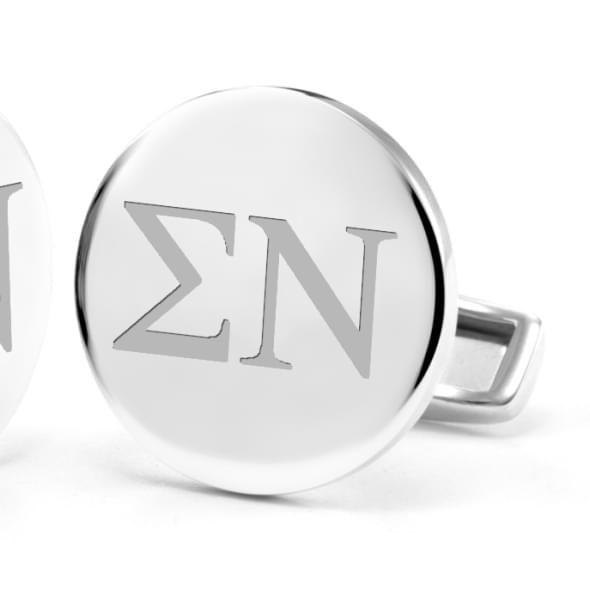 Sigma Nu Sterling Silver Cufflinks - Image 2