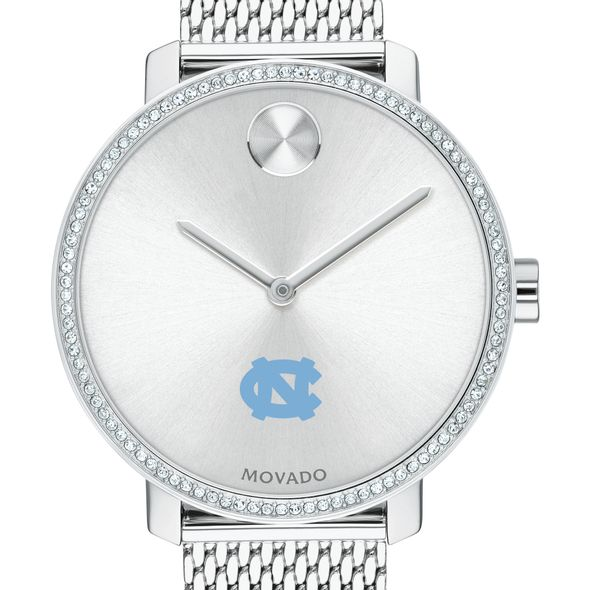 UNC Women's Movado Bold with Crystal Bezel & Mesh Bracelet