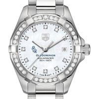 Old Dominion University Women's TAG Heuer Steel Aquaracer with MOP Diamond Dial & Bezel