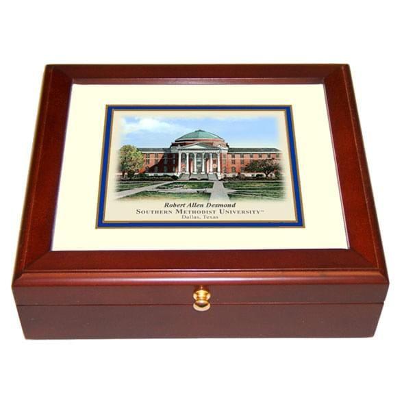 Southern Methodist University Eglomise Desk Box