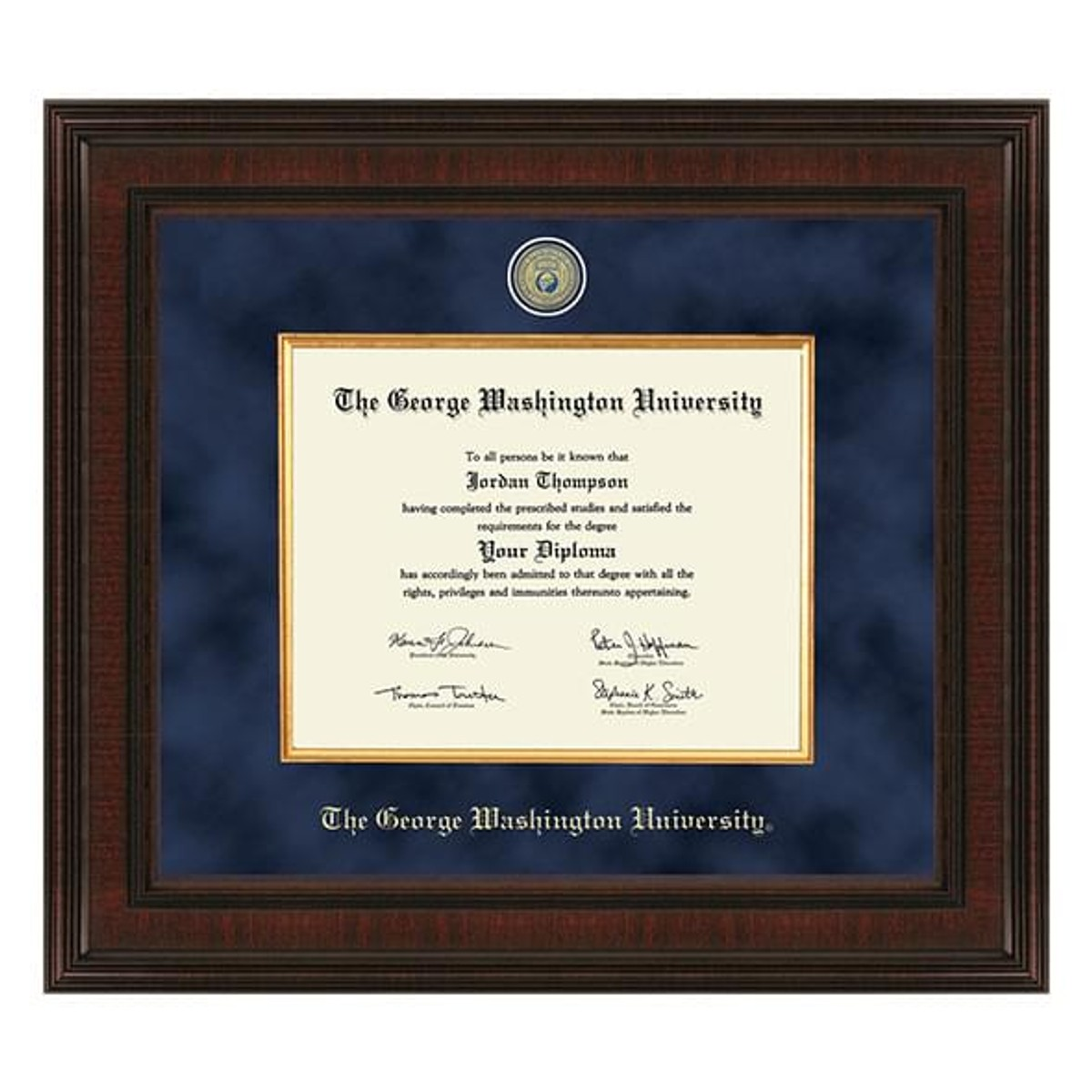 George Washington University Diploma Frame Excelsior
