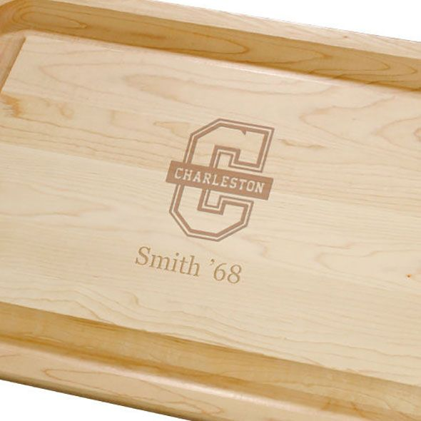 College of Charleston Maple Cutting Board - Image 2