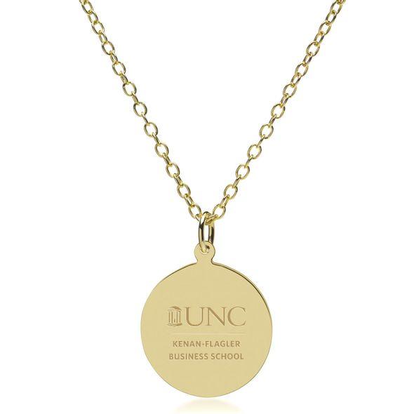 UNC Kenan-Flagler 18K Gold Pendant & Chain - Image 2