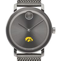 University of Iowa Men's Movado BOLD Gunmetal Grey with Mesh Bracelet
