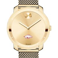 University of Arkansas Women's Movado Gold Bold 36