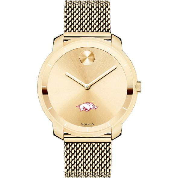 University of Arkansas Women's Movado Gold Bold 36 - Image 2
