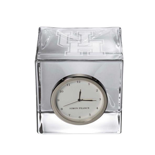 Houston Glass Desk Clock by Simon Pearce - Image 1