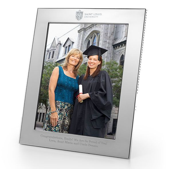 Saint Louis University Polished Pewter 8x10 Picture Frame - Image 1