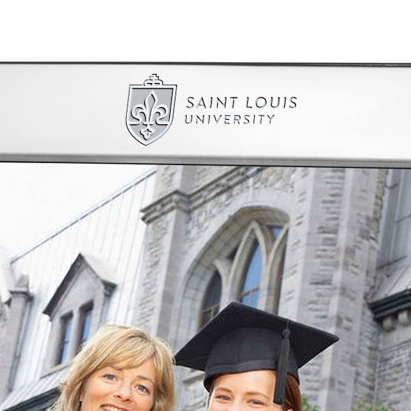 Saint Louis University Polished Pewter 8x10 Picture Frame - Image 2
