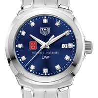 North Carolina State Women's TAG Heuer Link with Blue Diamond Dial