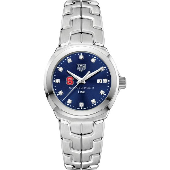 North Carolina State Women's TAG Heuer Link with Blue Diamond Dial - Image 2