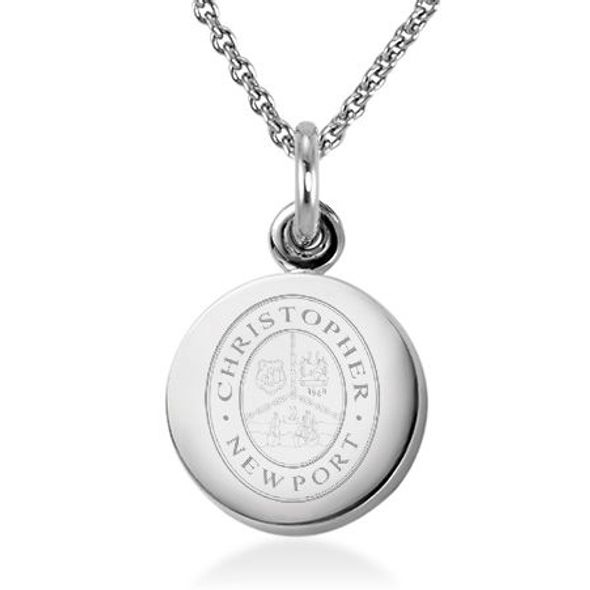 Christopher Newport University Necklace with Charm in Sterling Silver - Image 1