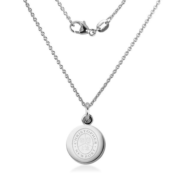 Christopher Newport University Necklace with Charm in Sterling Silver - Image 2
