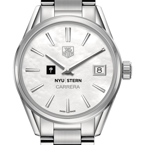 NYU Stern Women's TAG Heuer Steel Carrera with MOP Dial - Image 1