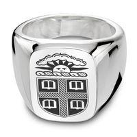 Brown Sterling Silver Rectangular Cushion Ring