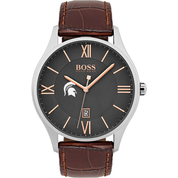 Michigan State University Men's BOSS Classic with Leather Strap from M.LaHart - Image 2