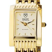 Emory Women's Gold Quad Watch with Bracelet