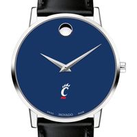 University of Cincinnati Men's Movado Museum with Blue Dial & Leather Strap