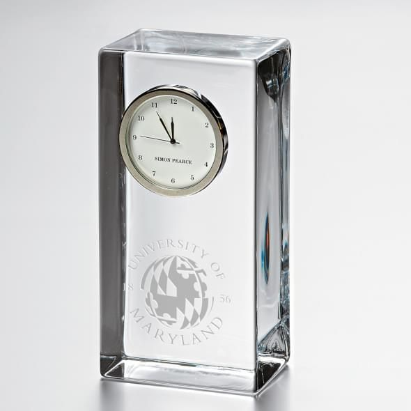 Maryland Tall Glass Desk Clock by Simon Pearce - Image 1