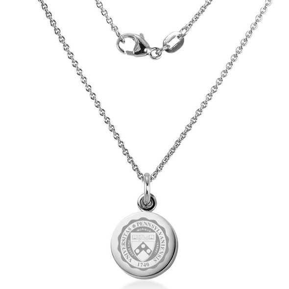 University of Pennsylvania Necklace with Charm in Sterling Silver - Image 2