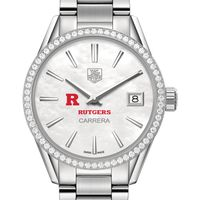 Rutgers University Women's TAG Heuer Steel Carrera with MOP Dial & Diamond Bezel