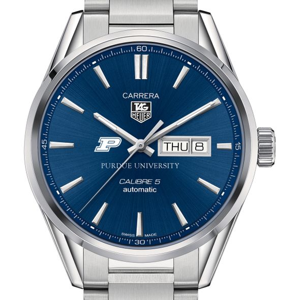 Purdue University Men's TAG Heuer Carrera with Day-Date - Image 1