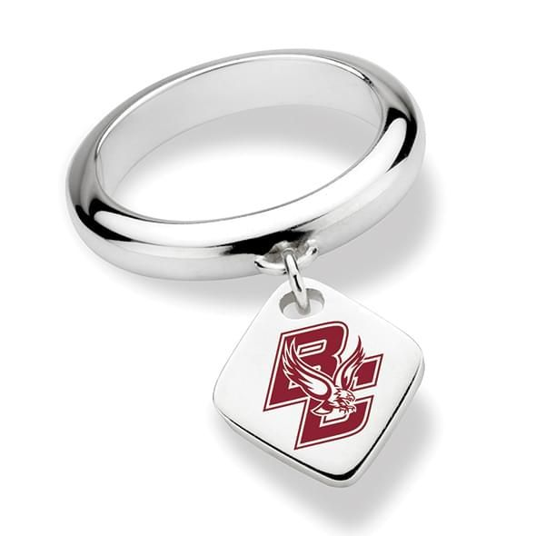 Boston College Sterling Silver Ring with Sterling Tag