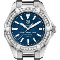 Texas McCombs Women's TAG Heuer 35mm Steel Aquaracer with Blue Dial