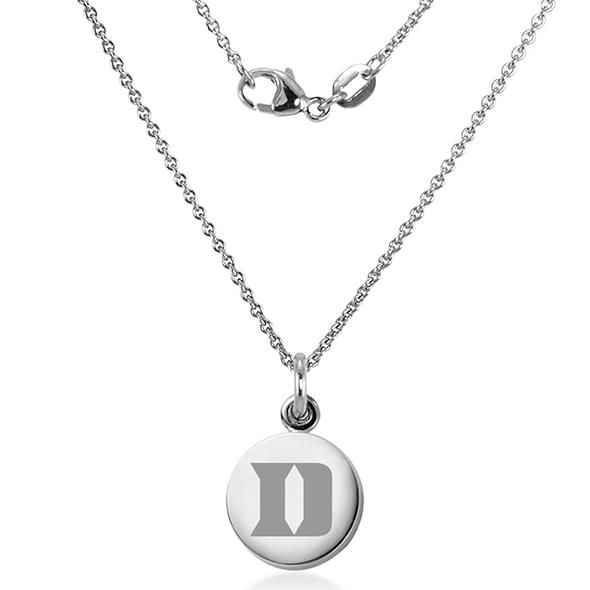 Duke University Necklace with Charm in Sterling Silver - Image 2