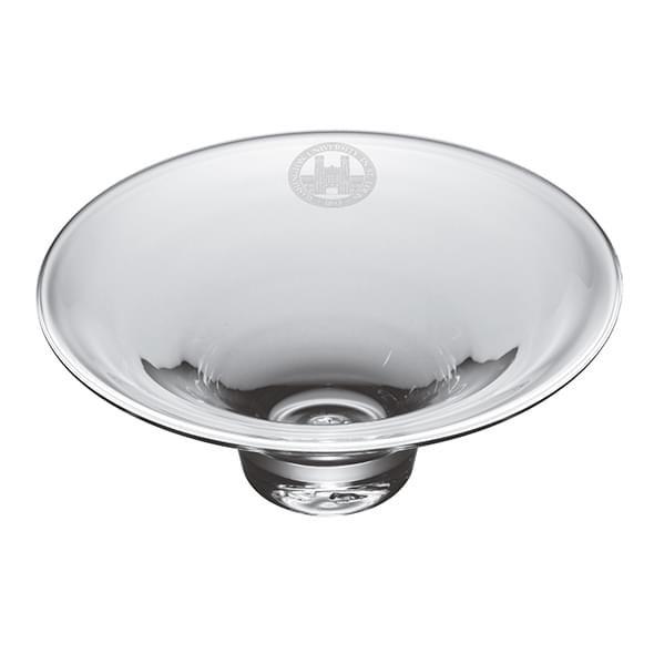 WUSTL Glass Hanover Bowl by Simon Pearce