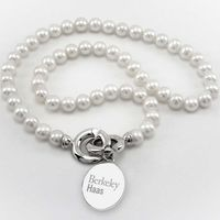 Berkeley Haas Pearl Necklace with Sterling Silver Charm