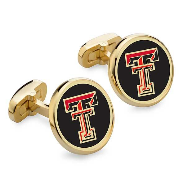 Texas Tech Enamel Cufflinks