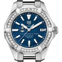 USAFA Women's TAG Heuer 35mm Steel Aquaracer with Blue Dial